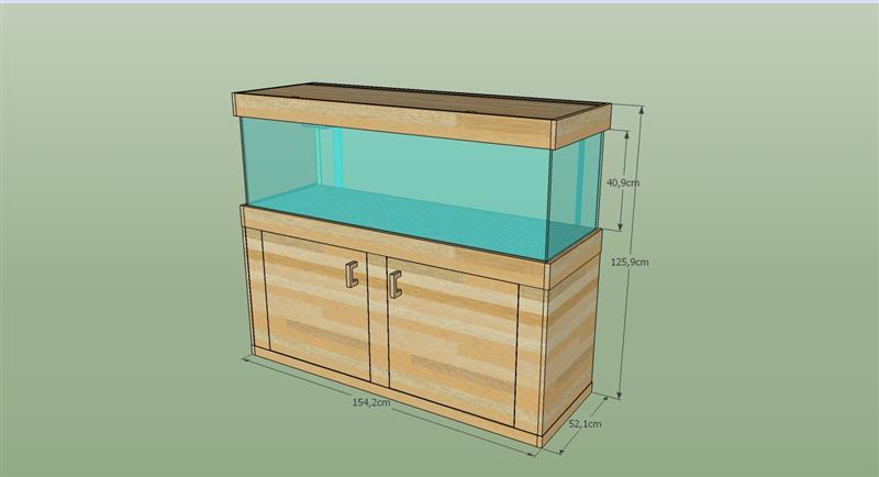 meuble d'aquarium en bois